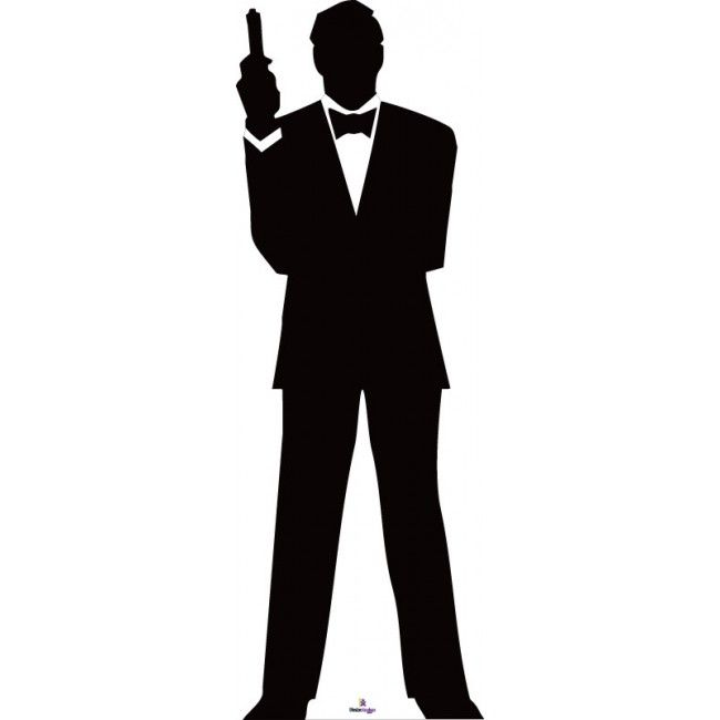 650x650 James Bond Silhouette 1 Cardboard Cutout Star Silhouette