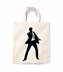 263x300 James Bond Silhouette Canvas Tote Shopping Bag Cotton Printed