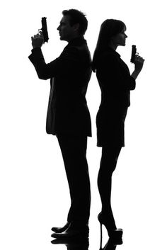 236x353 James Bond Silhouettes