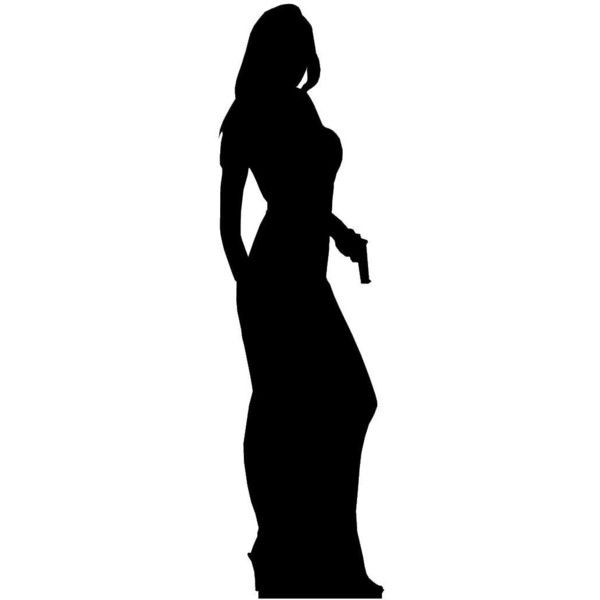 600x600 Secret Agent (James Bond Style) Girl Single Pack Silhouette