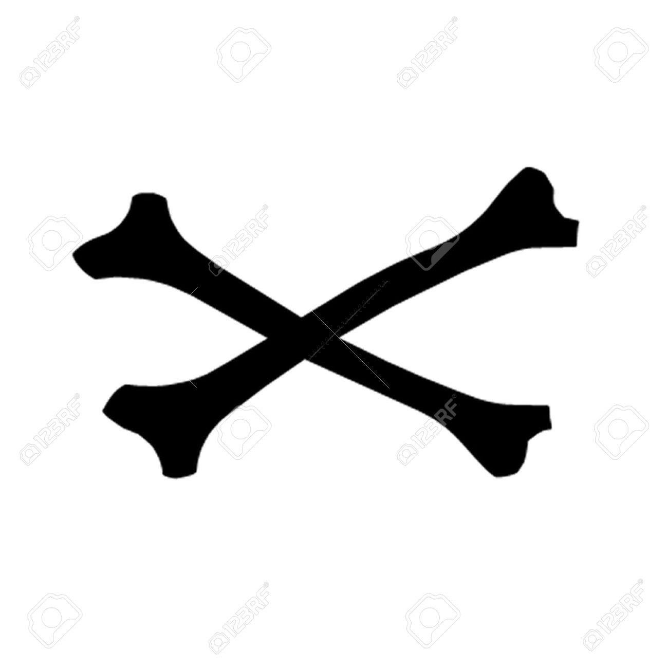 1300x1300 Crossbones Silhouette Elegant Cross Bones Royalty Free Cliparts