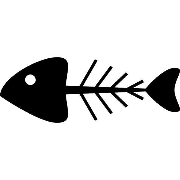 626x626 Fish Bone Silhouette Free Icon Wooden Silhouette