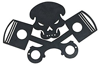 342x223 Steel Silhouette Of Skull And Piston Cross Bones