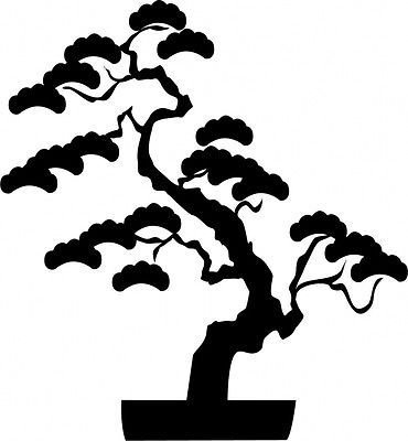 370x400 Bonsai Tree Silhouette Clip Art