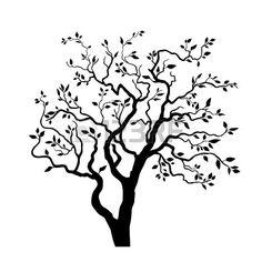 236x236 Bonsai Silhouette Collection. Vector Tree Art Nieuw Flat