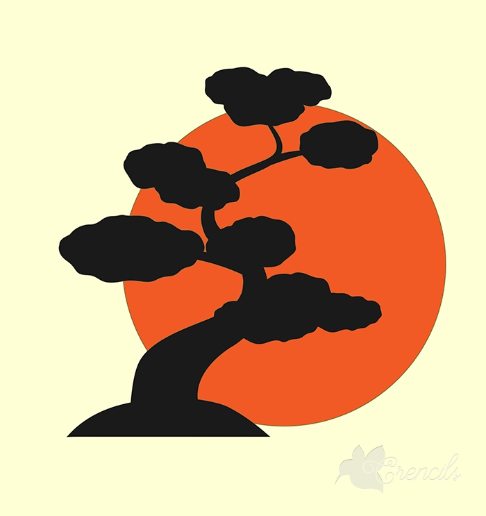 700x743 Free Bonsai Plant Vector Silhouette