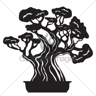325x325 Sketched Bonsai Tree Gl Stock Images