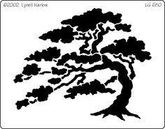 236x185 Bonsai Tree Stencil