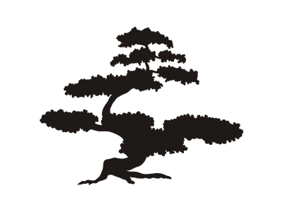 400x300 Bonsai Tree Stencil
