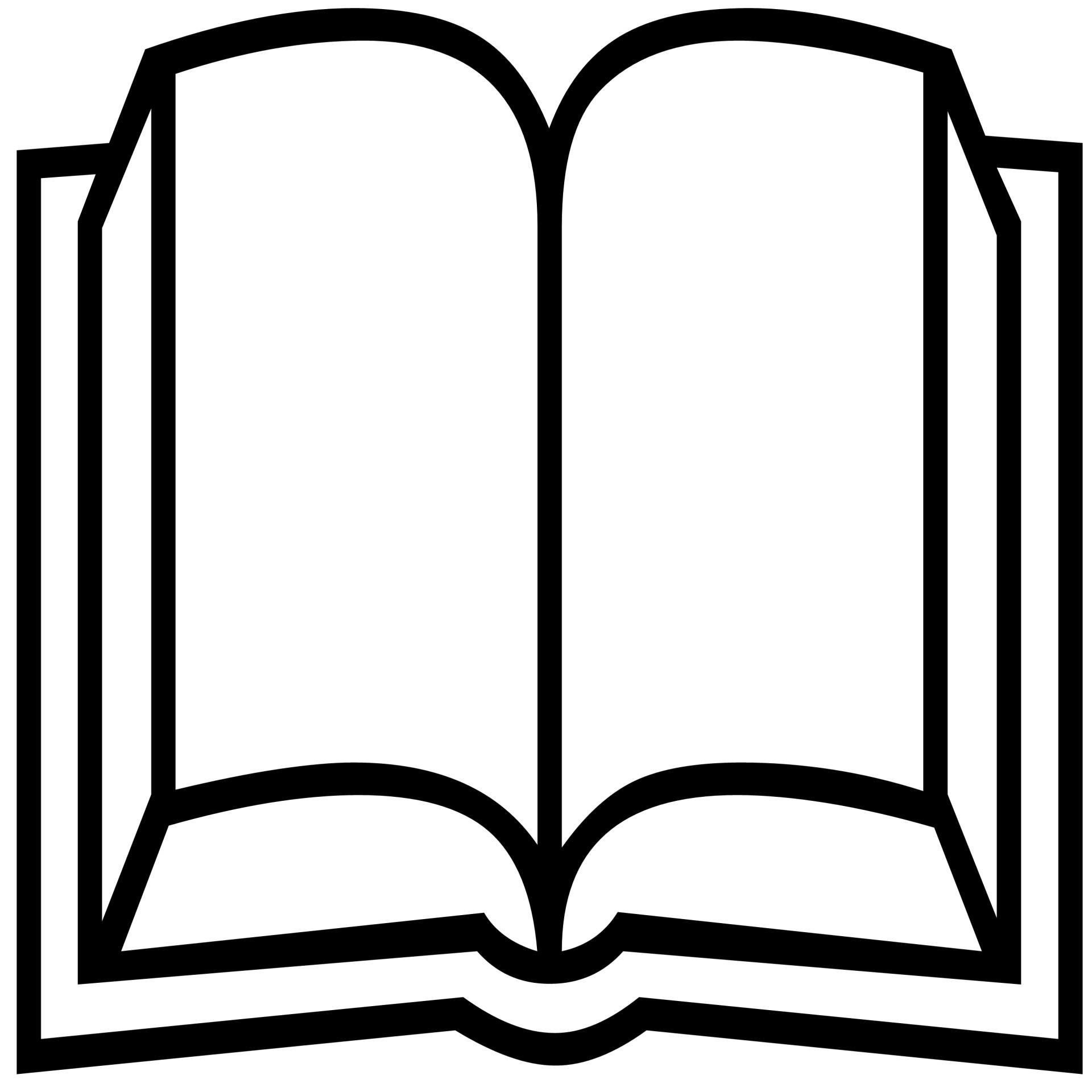 1920x1920 Open Book Silhouette Free Stock Photo