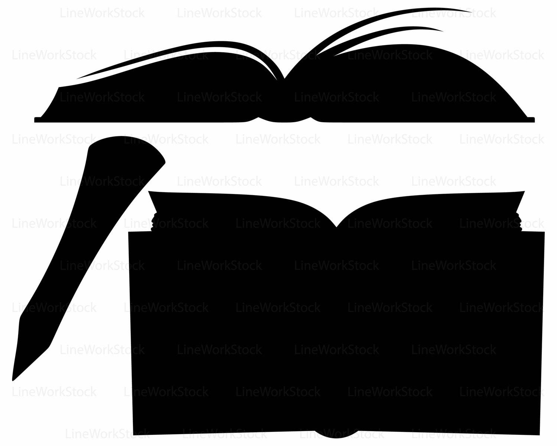 1500x1200 Open Book Svgook Clipartook Svgopen Book Silhouetteook