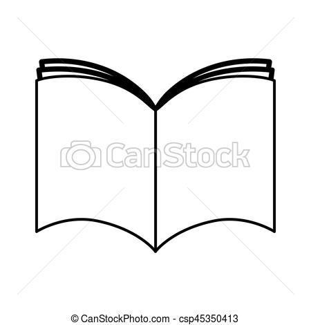 450x470 Text Book Silhouette Isolated Icon Vector Illustration Vector