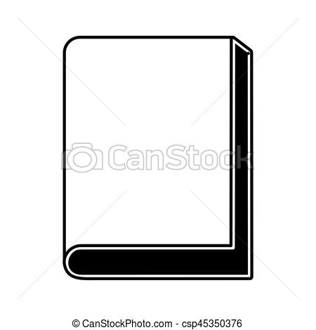 450x470 Text Book Silhouette Isolated Icon Vector Illustration Vectors