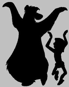 236x296 Baloo And Mowgli Silhouette