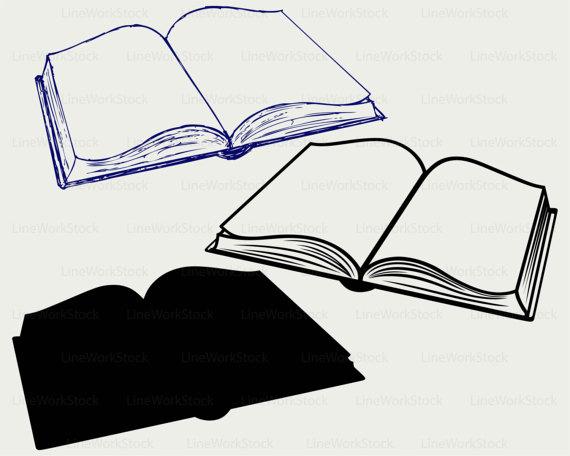 570x456 Open Book Svgook Clipartook Svgopen Book Silhouetteook