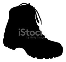 212x200 Hiking Boot Silhouette Stock Vectors