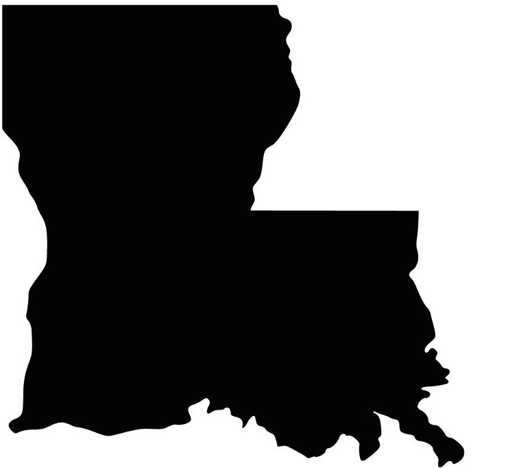 741x682 Louisiana, The Boot Shaped State, Isn'T Shaped Like A Boot Anymore