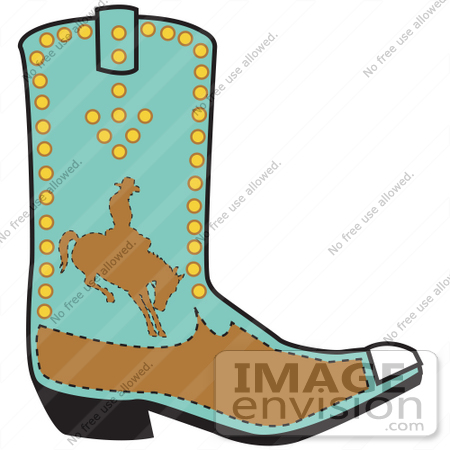 450x450 Royalty Free Cartoon Cliprt Turquoisend Brown Boot