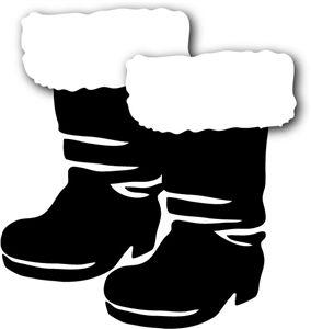 284x300 Santa Black Boots Clipart