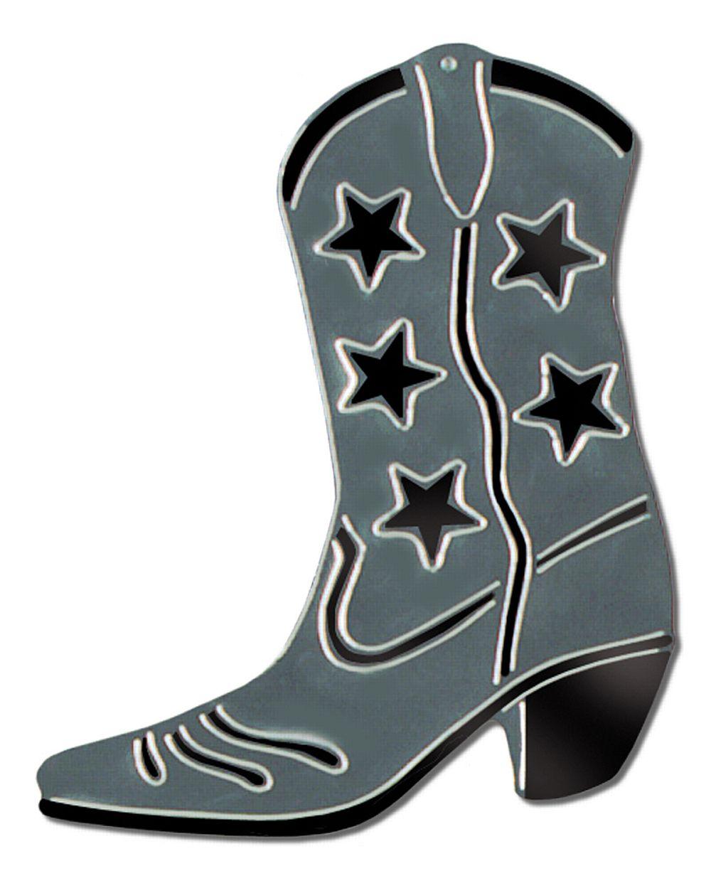 1000x1249 Silver Foil Cowboy Boot Silhouette 16
