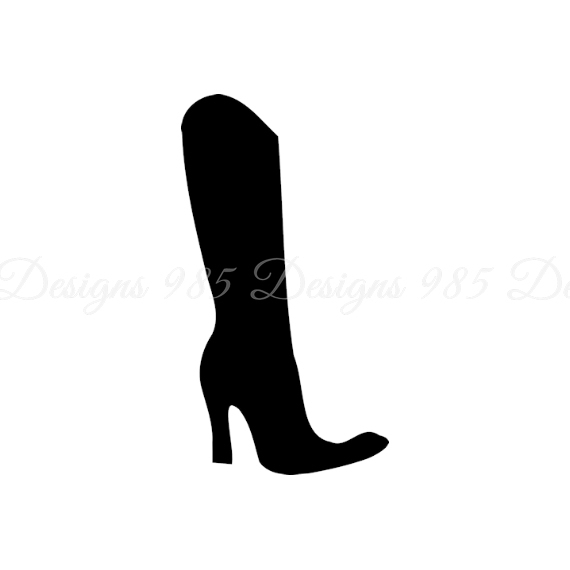 570x570 Woman's Boot Svg For Cricut And By 985 Graphic Designs On Zibbet