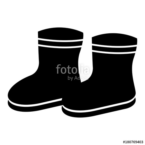 500x500 Winter Boots Silhouette Stock Image And Royalty Free Vector Files