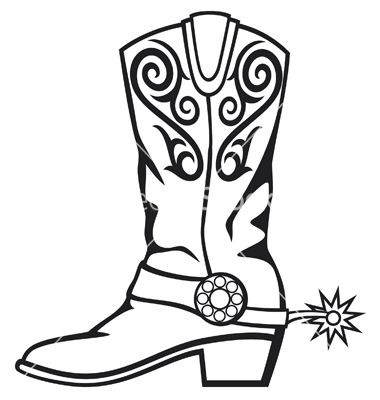380x400 Cowboy Boot Silhouette Clip Art Cowboy Boot Vector Education
