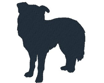 340x270 Collie Silhouette Etsy