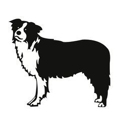 236x236 Farm Silhouette Clip Art Farm Dog (Border Collie)