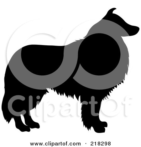450x470 Royalty Free (Rf) Dog Silhouette Clipart, Illustrations, Vector