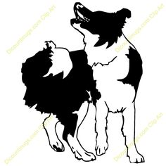 236x236 Border Collie Silhouette Tattoos
