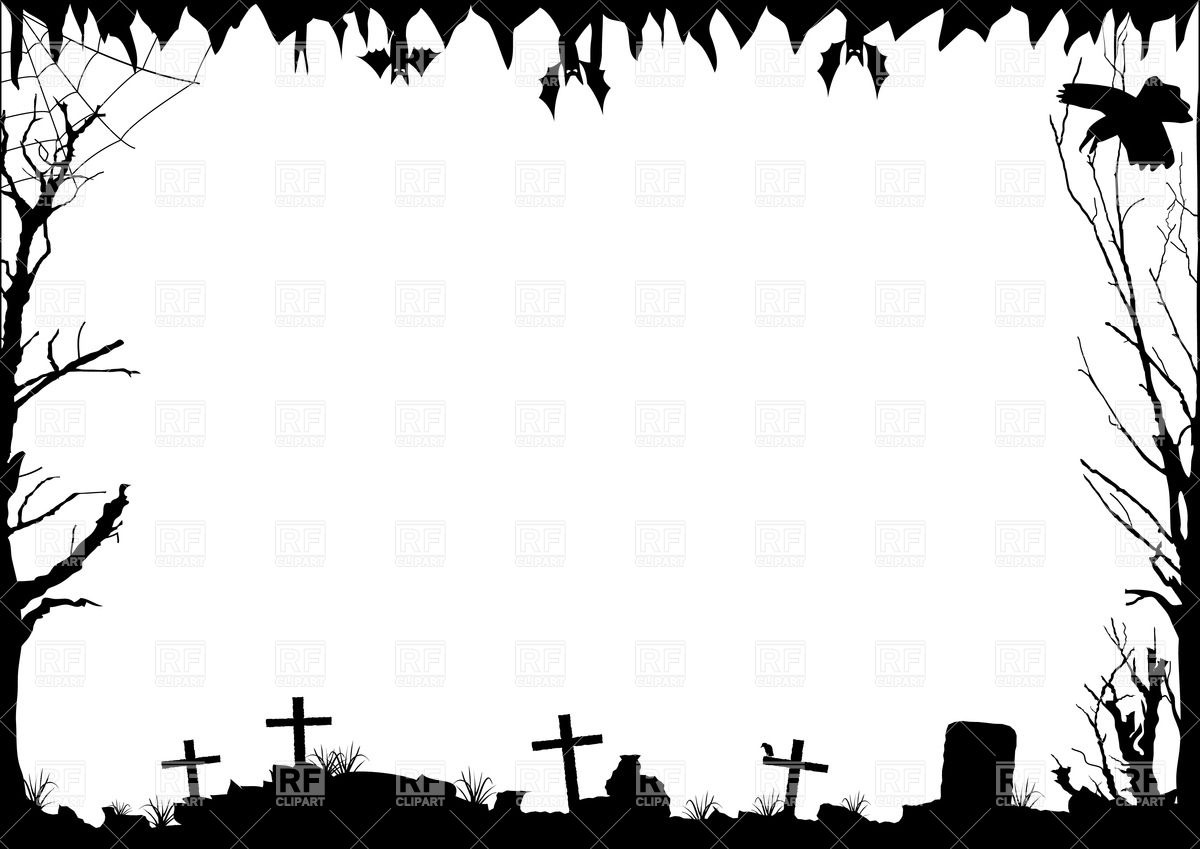 photo regarding Free Printable Halloween Borders named Border Silhouette at  Absolutely free for specific employ the service of