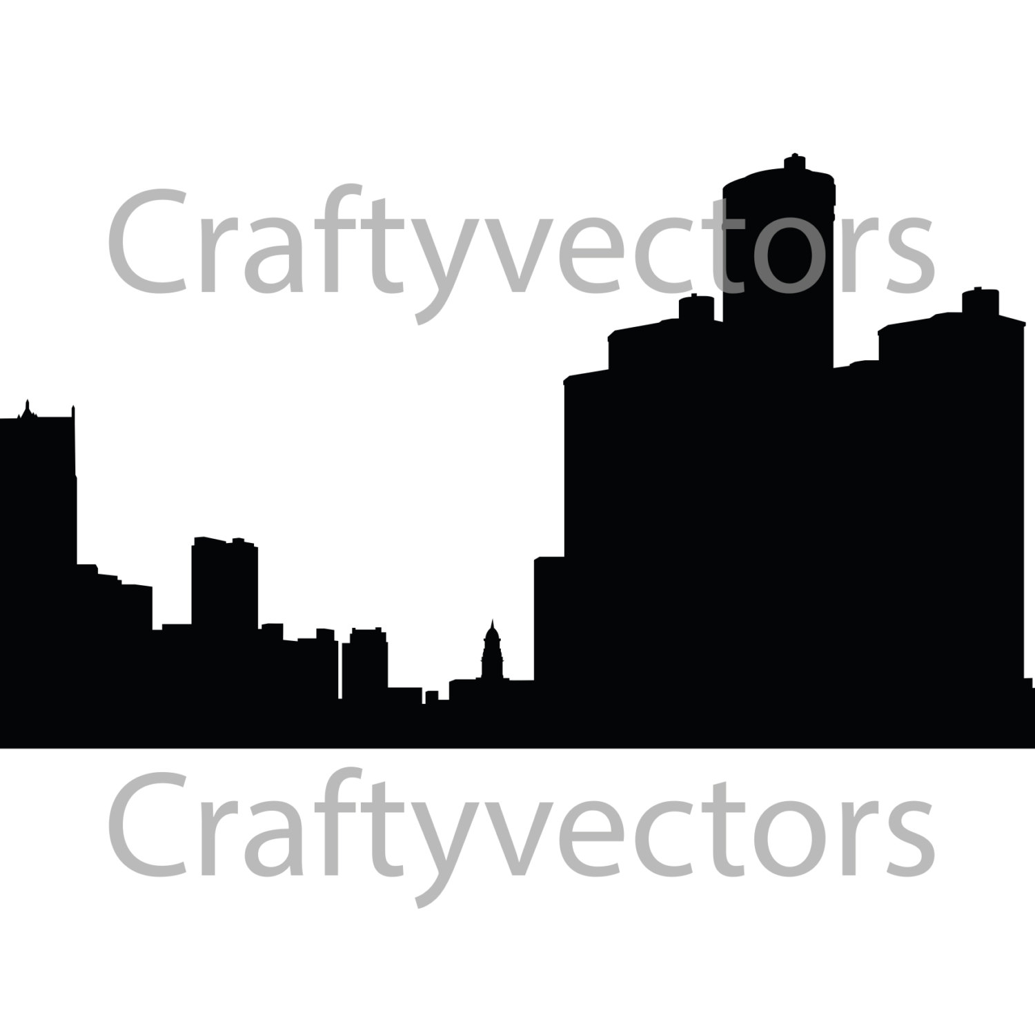 1500x1500 Detroit City Skyline Vector File From Craftyvectors On Etsy Studio