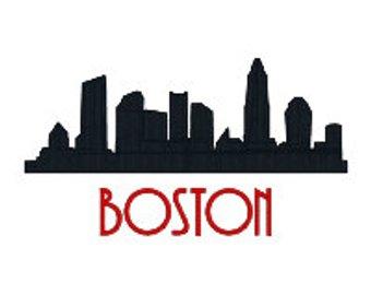 340x270 Boston Silhouette Etsy