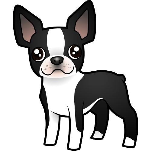 500x500 Boston Terrier Clipart Free