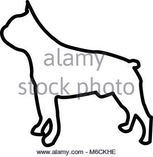 311x320 Vector Sketch Dog Boston Terrier Breed Serious Stock Vector Art