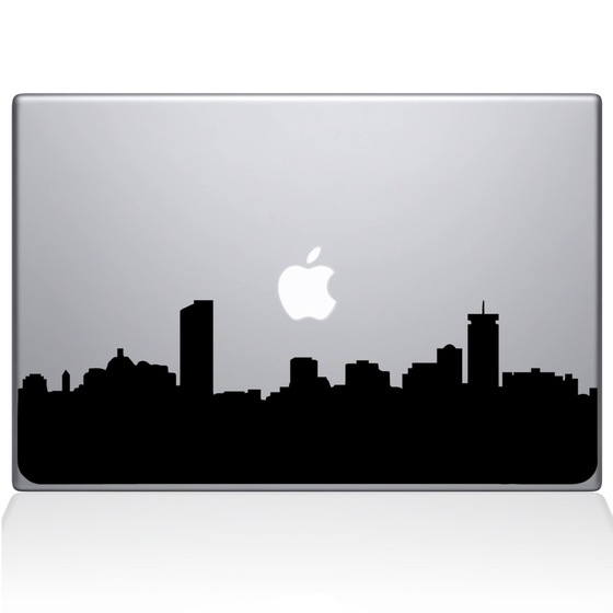 560x560 Boston City Skyline Macbook Decal Macbook Decals The Decal Guru