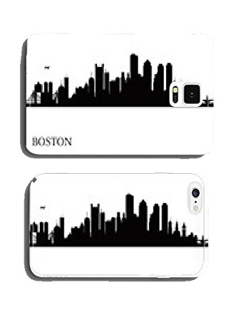 334x445 Boston City Skyline Silhouette Background Phone Cover Case Pare
