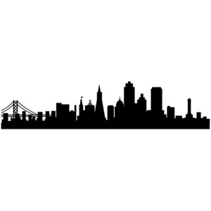 300x300 City Life Clipart Silhouette Transparent