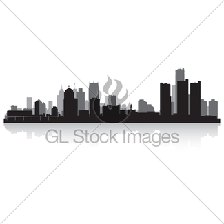 325x325 Anchorage City Skyline Silhouette Gl Stock Images