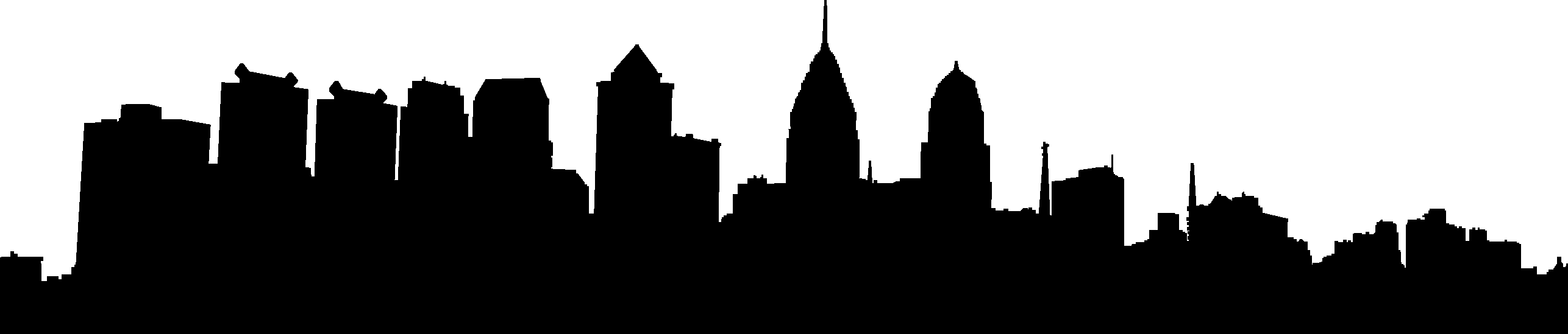 2572x549 City Skyline Silhouette 02 Vector Eps Free Download, Logo, Icons