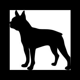 263x262 Boston Terrier Silhouette Pets Terrier