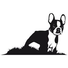 236x236 Boston Terrier Silhouette Clipart