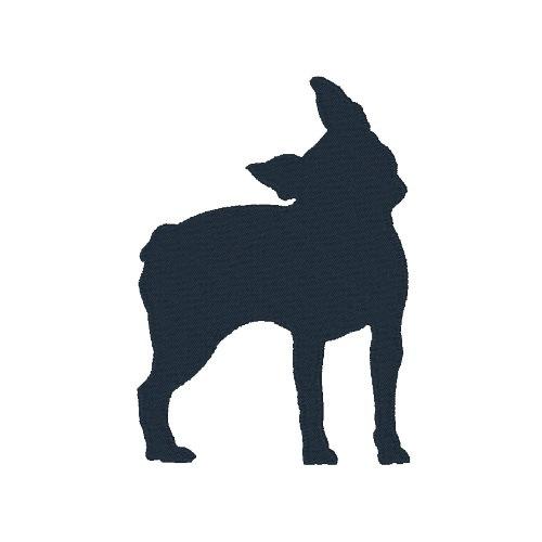500x500 Boston Terrier Silhouette Machine Embroidery Design Embroidery