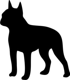 236x267 Boston Terrier Silhouette Vinyl Sticker Car Decal Personalized