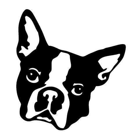 455x480 Boston Terrier Head Decal Sticker
