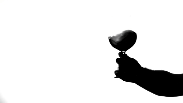 590x332 Transparent Glass Of Red Wine, White, Silhouette By Kinomaster