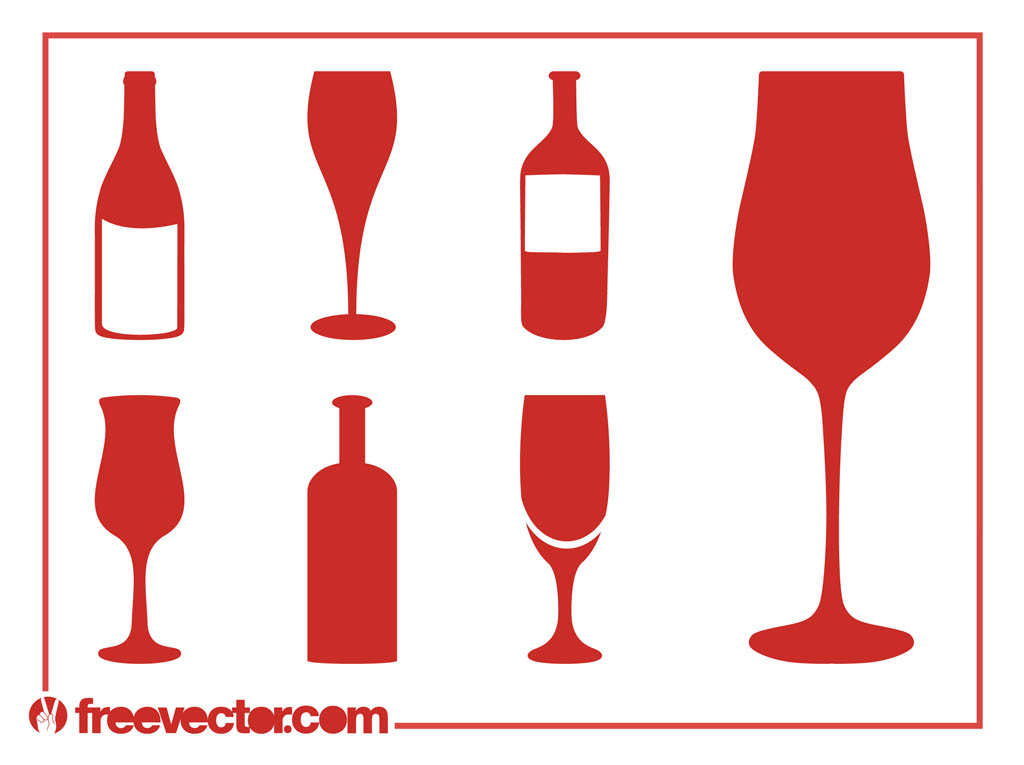 1024x765 Wine Silhouettes Set Free Vectors Ui Download