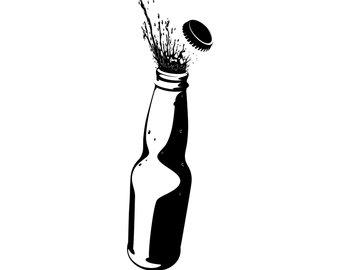 340x270 Bottle Silhouette Etsy