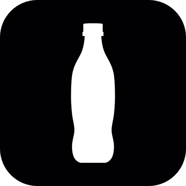 626x626 Bottle Silhouette Inside A Rounded Square Icons Free Download